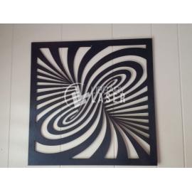 Laser cut Twirl Diseño