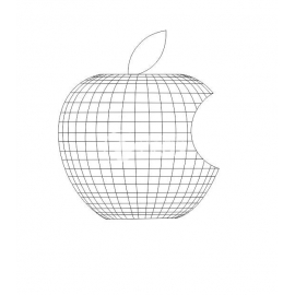 Engraved logo apple Design