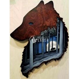 Cuadro lobo Diseño