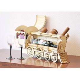 Porta vino de locomotora Diseño