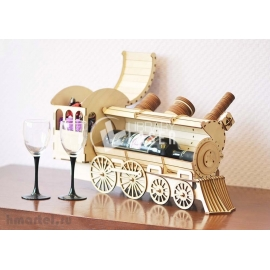 Locomotive wine holder design