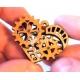Corazón de piñones Diseño