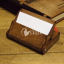 Wooden card holder Design