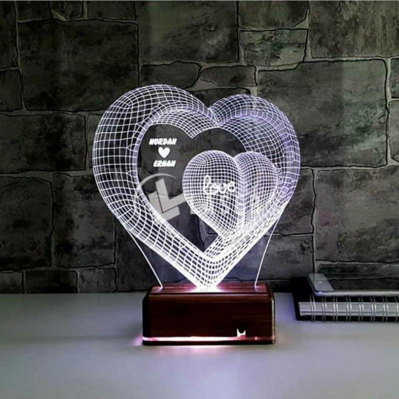 Engraved Heart Design Case For Laser Cutting