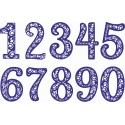 Números senifas diseño