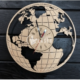 World map clock design