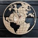 World map clock design