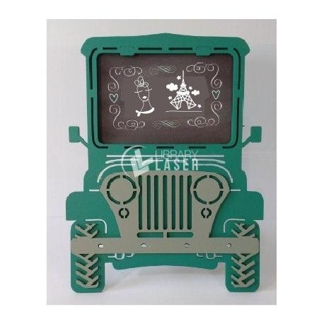 Porta retrato jeep Diseño