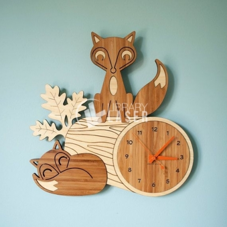Reloj zorro Diseño