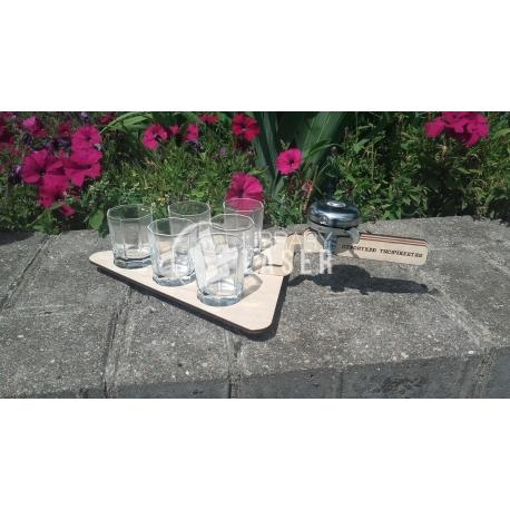 Glasses tray design