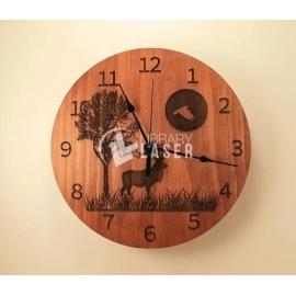 Reindeer clock design