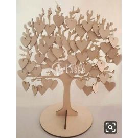 Árbol de corazones diseño
