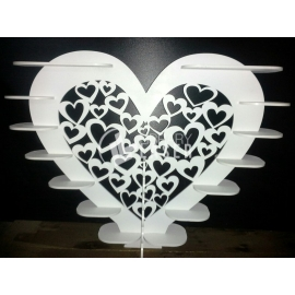 Stand corazón diseño