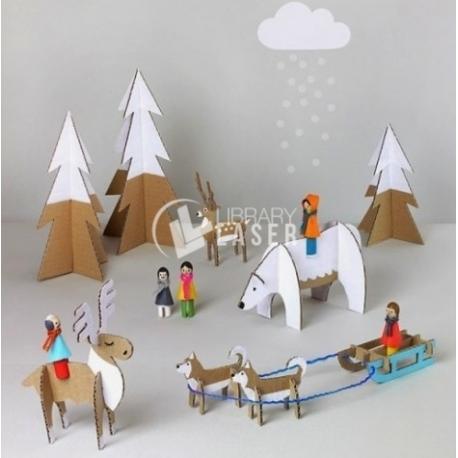 Animales de nieve diseño