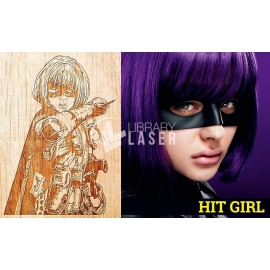 Grabado Hit Girl diseño