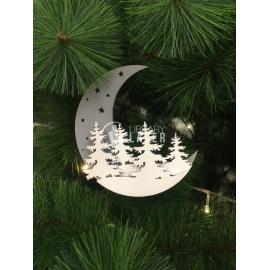 Luna navidad diseño