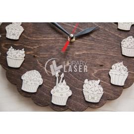 Reloj cupcakes diseño