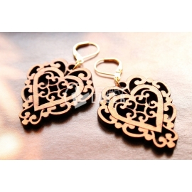 Heart earring design