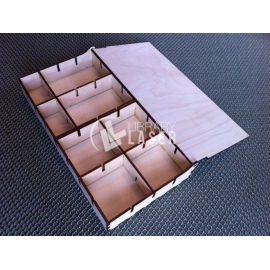 Caja con divisores diseño