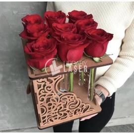 Porta rosas diseño