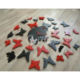 Reloj mariposas diseño