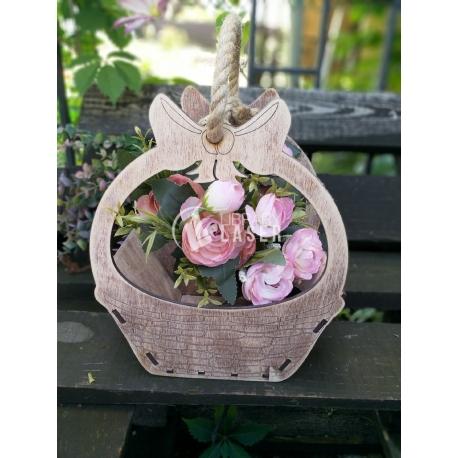 Canasta de flores diseño