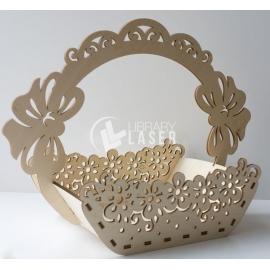 Flowers or fruits basket design