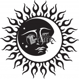 sol y luna diseño