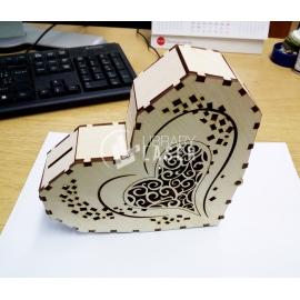 Alcancía corazón diseño