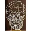 Skull engraving design