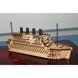 Diseño Navio Titanic 3D
