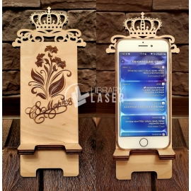Phone holder design - phone stand dxf