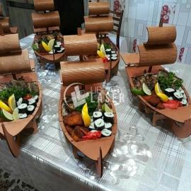 Barco sushi diseño