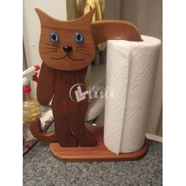 Porta toallas gato diseño