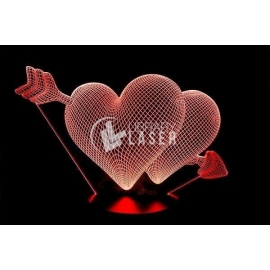 Engraved heart Design