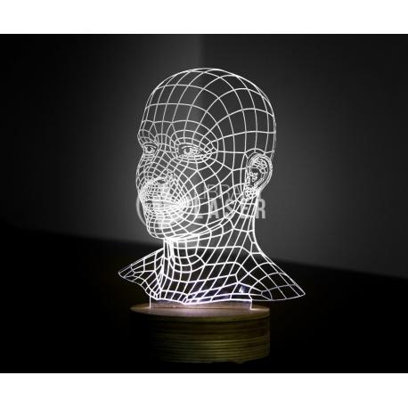 Human torso engraving design