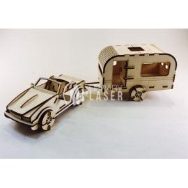 Convertible con trailer diseño