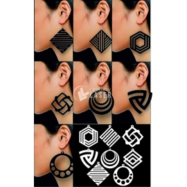 Earrings pack design