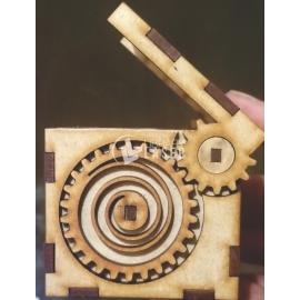 Cubo con cierre automático diseño