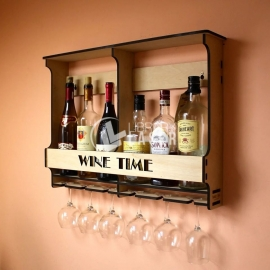 Shelf wine design