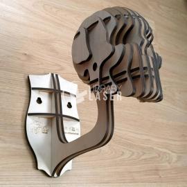 Calavera 3d para casco diseño