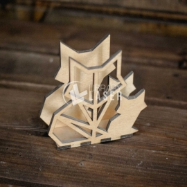 Wolf napkin ring design