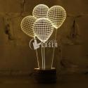 Engraved balloons design
