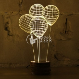 Grabado globos diseño