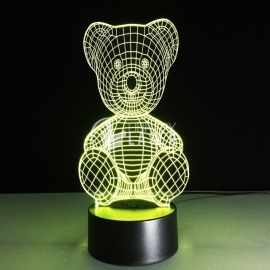 Bear engraving design