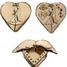 Caja corazón diseño