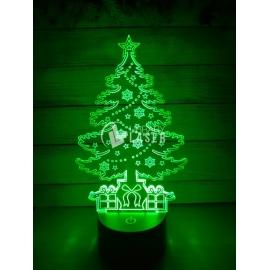 Grabado árbol de navidad diseño