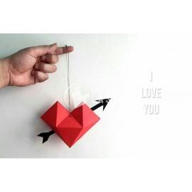 Pepakura heart design