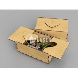 Caja fotos madera diseño