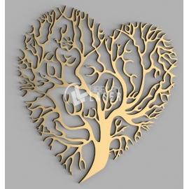 Corazón árbol diseño